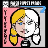 """VIKING WOMAN"" Paper Bag Puppet"