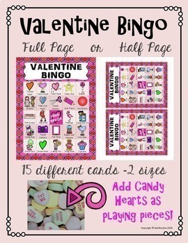 Valentine Bingo for Staff or Students (Principals and Teachers)