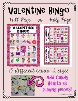 Valentine Bingo for Staff or Students (Principals and Teachers)