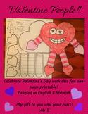 """Valentine People"" Free Printable For February Fun!! In En"