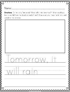 """""""Valentine Rain"""" (A February Emergent Reader and Response Dollar Deal)"""