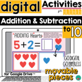 Valentine's Day Addition and Subtraction DISTANCE LEARNING