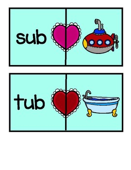 *Valentine's Day* CVC Short Vowel Puzzles