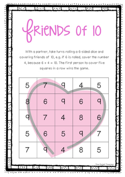 *Valentine's Day* Friends of 10 - FREE Activity Pack -