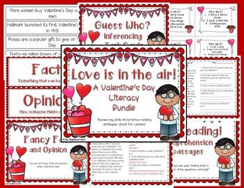 {{Valentine's Day Literacy Bundle}}