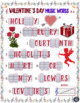 Valentine's Day Music Activity! Valentine's Day Word Letter/Note Fill-Ins