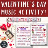 Valentine's Day Music Activity! Valentine's Day Word Lette