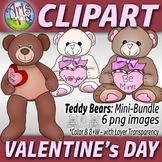 """Valentine's Day Teddy Bears"" - Mini Bundle - ClipArt - stuffed animals"