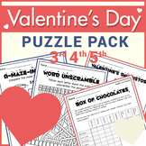 ♥ Valentine's Day Puzzle Pack ♥ Logic & Reading Puzzles♥