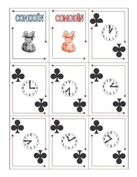 ¡Vamos a Pescar! Go Fish card game set: Telling Time