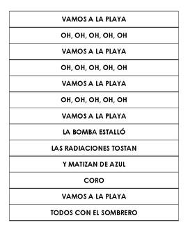 """""""Vamos a la playa"""" by Righeira - Song Activities"""