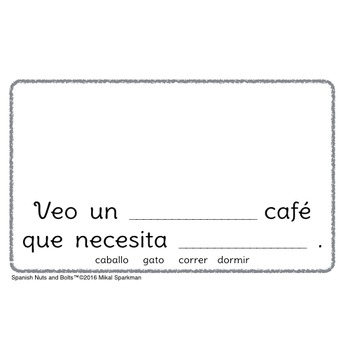 ¡Veo café!: A beginning Spanish workbook/reader (noun/adjective agreement)