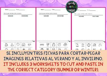 ¿Verano o Invierno? Summer or Winter? Conceptos opuestos Español