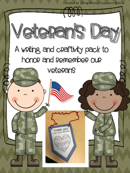 {{Veteran's Day Writing and Craftivity Pack}}