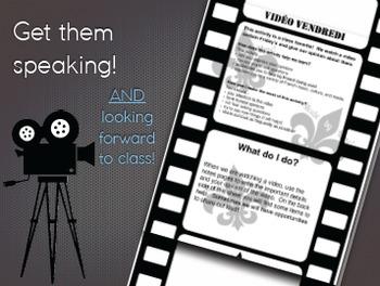 """Vidéo Vendredi"" Speaking & Writing Activity"