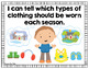 """*Visual """"I Can"""" Statements for Kindergarten Common Core Standards- Color"""