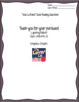 """Viva La Robot"" Close Reading Worksheet for Code-X Unit 4"