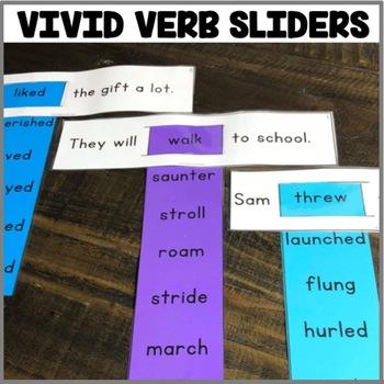"""Vivid Verb Sliders: Sentences"" Center"