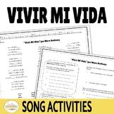 """Ir A Infinitive """"Vivir Mi Vida"""" Cloze Activity"""
