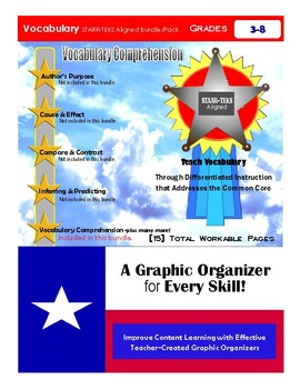"""Vocabulary Comprehension Bundle/Pack"" STAAR-TEKS Aligned"
