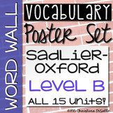 {Vocabulary Workshop} Word Wall - Level B - All 15 Units