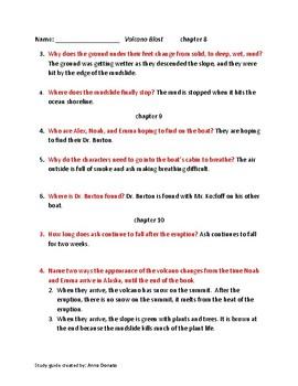 """Volcano Blast"" study guide/answers"