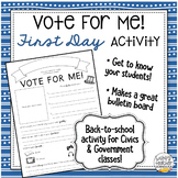 """Vote For Me"" Opening Day Activity for Civics and U.S. Government"