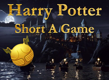 ▶️Vowel Review - Short A Harry Potter Game - Picture and Word Prompt - K-1 - PPT