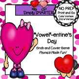 """""""Vowel""""-entine's Day:  NO PREP Valentine's Day Grab and Cover Short Vowel Game"""