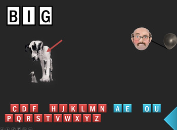▶️Vowels Review - Short I Hangman Game - Spelling Practice - K-1 - PowerPoint