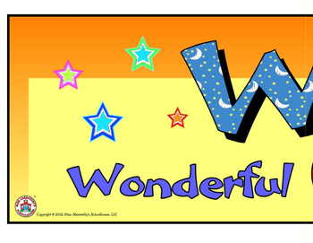 """W.O.W."" Bulletin Board Header Freebie"