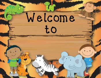 FREE Editable Classroom Welcome Signs {Jungle Zoo Safari Theme}