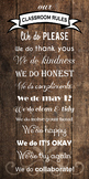 """WE DO"" Classroom Rules Poster Banner 1.5'x3' feet!!"