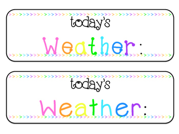 ~WEATHER CHART~ Brights Colored Theme