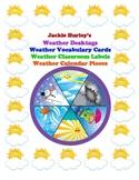 -WEATHER - WEATHER - Desktags - Vocabulary Cards - Classroom Labels - Calendar