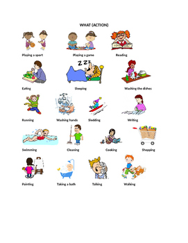 """WH"" Picture Cards for Writing and Story Comprehension"