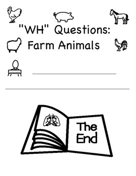 """WH"" Questions: Farm Animals (speech, autism, vocabulary)"
