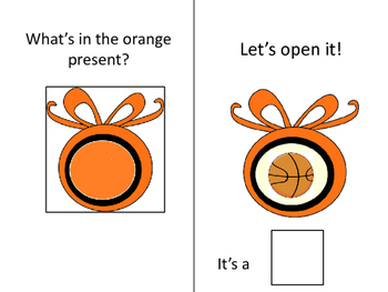 """WHAT'S IN THE PRESENT?  LET'S OPEN IT!""  INTERACTIVE BOOK"