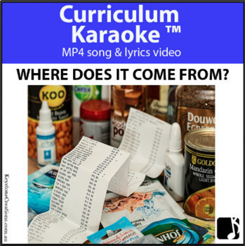 'WHERE DOES IT COME FROM?' ~ Curriculum Karaoke™ MP4: READ, SING & LEARN