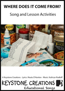 'WHERE DOES IT COME FROM?' ~ MP3: READ, SING & LEARN About Origins of Foods