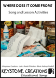 'WHERE DOES IT COME FROM?' (Grades Pre-K - 3) ~ Curriculum Song Package (Food)
