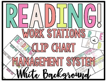 - WHITE - READING! READERS! READ! Workstation Clip Chart Management System