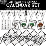 {WHITEWASHED SHIPLAP} CALENDAR SET
