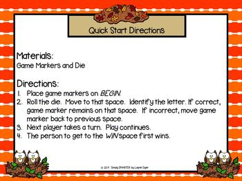 """""""WHOO"""" Knows Their Letters?:  NO PREP Owl Themed Letter Identification Game"""