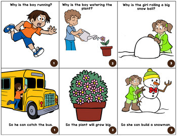 """""""WHY"""" Questions Match Up (for Speech Therapy!)"""