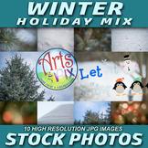 """WINTER-Holiday MIX"" - Winter - Snow - Holiday -  Stock Photos"
