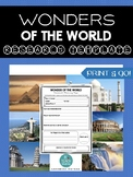 *WONDERS OF THE WORLD* Research Template: Print & Go!