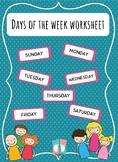 [WORKSHEET] Days Of The Week