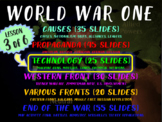 WORLD WAR ONE (PART 3 TECHNOLOGY) rich text visual engaging w graphic organizer