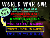WORLD WAR ONE (PART 5 OTHER FRONTS) rich visual engaging w graphic organizer